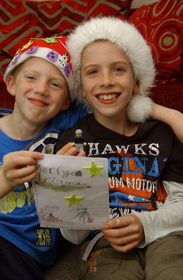 Eight-year-old Joe Hurst and his brother Ben, 10, are excited about the competition