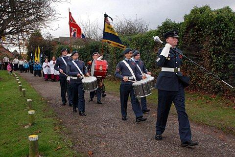 A memorial parade at Stone Recreation Ground in 2009.