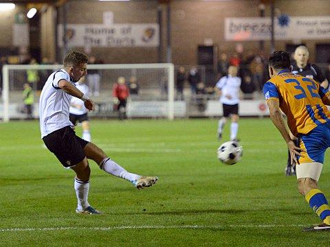 Ryan Hayes (above) gave dartford an early lead. PICTURE BY KEITH GILLARD.