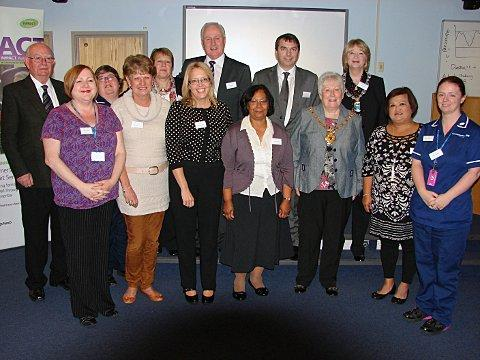 Dementia buddies and staff at Darent Valley Hospital