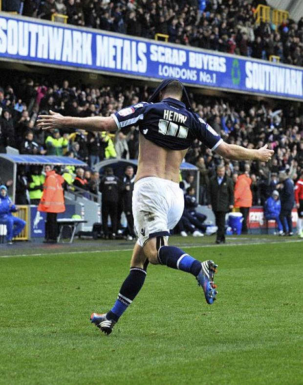 James Henry celebrates his goal against Huddersfield on Saturday. PICTURE BY ALAN STANFORD.