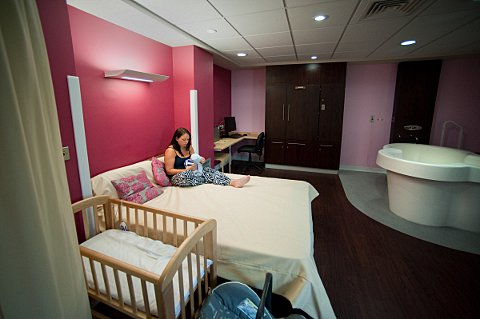 News Shopper: The newly-installed birthing suite at Lewisham Hospital is under threat