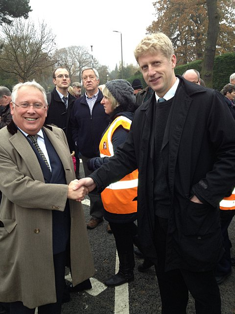 Bromley & Chislehurst MP Bob Neill with Orpington MP Jo Johnson at the opening of the bridge today