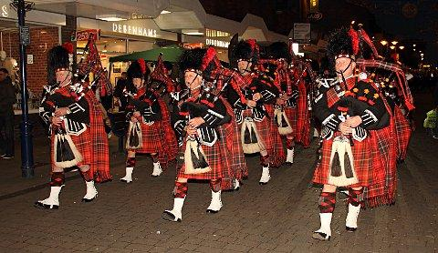 News Shopper: The City of Rochester Pipe Band in Gravesend