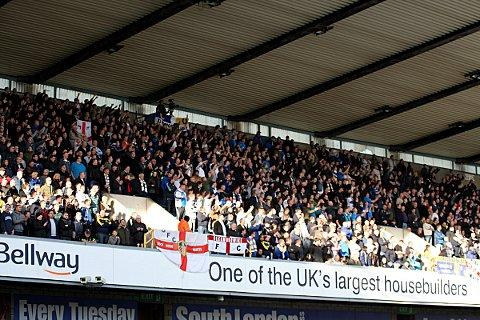 Leeds fans travelled in big numbers for Sunday's defeat at The Den. PICTURE BY EDMUND BOYDEN.