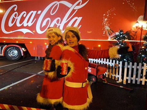 News Shopper: The Coca-Cola truck hits Gravesend (pics by Jason Arthur)