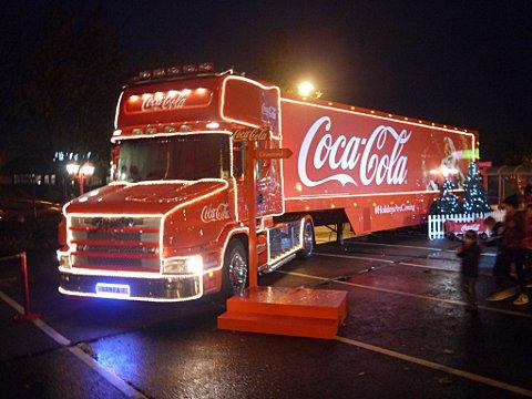 The Coca-Cola truck hits Gravesend (pics by Jason Arthur)