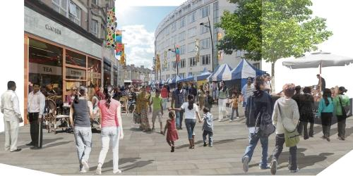 Catford Broadway becomes pedestrian zone