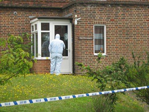 News Shopper: Forensic officers at the scene the day after the attack