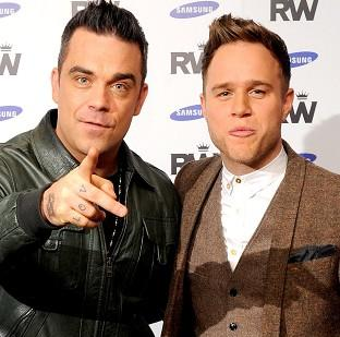 Robbie Williams will be supported by Olly Murs on his European tour