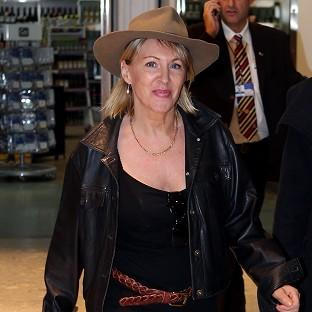 Nadine Dorries arrives back in Britain to face the music after her appearance on I'm A Celebrity