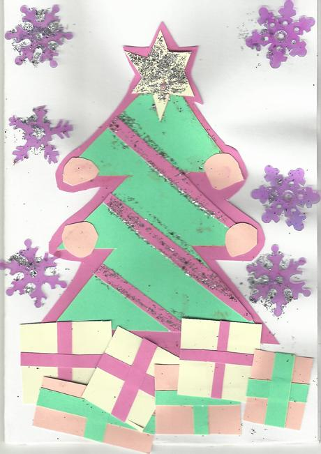 Tiffiny-Jade Horton's winning Christmas e-card design