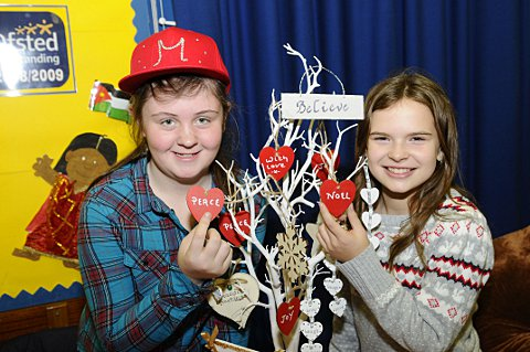 News Shopper: Megan Chambers, 11 and Mollie Stebbing, 12