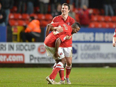 Ricardo Fuller celebrates his superb opener. PICTURES BY KEITH GILLARD.