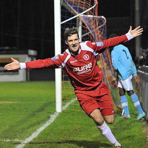 News Shopper: Jon Main celebrates scoring the fifth