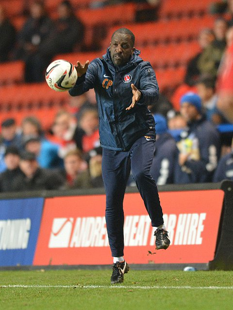Chris Powell catches the ball on the touchline in Saturday's 2-2 draw with Brighton. PICTURE BY KEITH GILLARD.