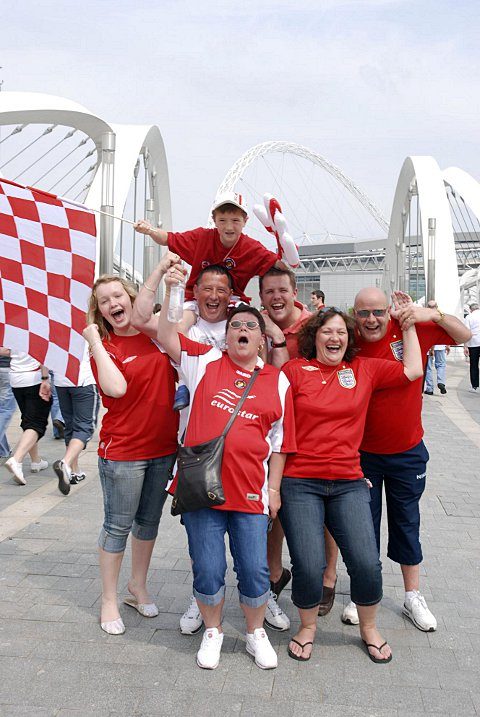 Ebbsfleet fans at Wembley for the 2008 FA Trophy final not long after MyFC took control of the club