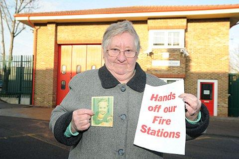 News Shopper: Jean Vecci, 79, whose six-year-old daughter died in a house fire, has fought to save Downham fire station four times