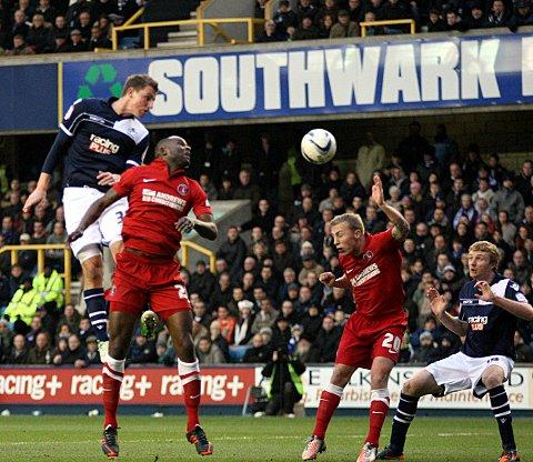 News Shopper: Chris Wood beats Leon Cort to a header in the recent draw with Charlton. PICTURE BY EDMUND BOYDEN.