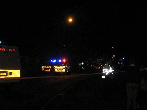 The scene at the crash last night