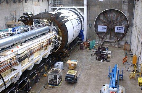 1,000 tonne tunnelling beast launched for Crossrail link Abbey Wood to central London