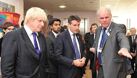 Bob Dore with Lord Coe and Boris Johnson in September 2011