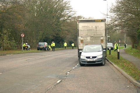 News Shopper: The road was closed until 10.20am