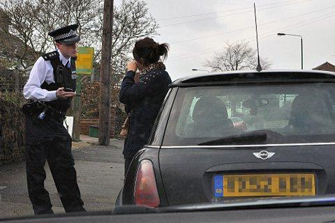 News Shopper: Chief Inspector Mike Loebenberg speaks to a driver stopped for having no insurance
