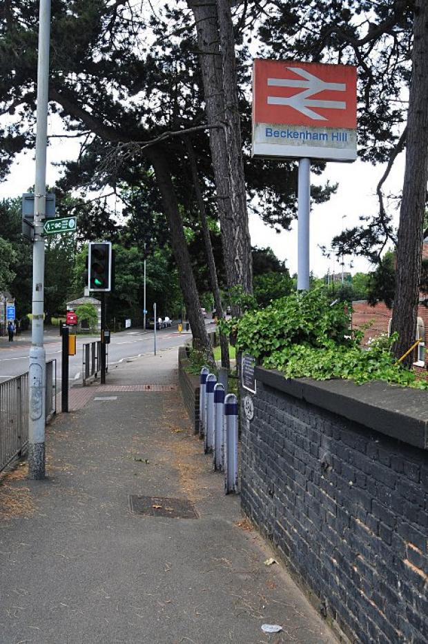 George Hebdon, 73, died at Beckenham Hill Station