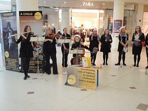 Bromley High School pupils play a tune for charity at The Glades
