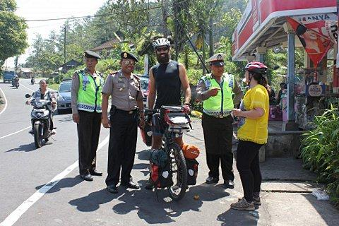 Meeting the police in Bali