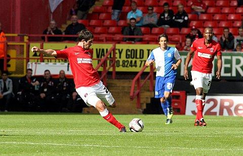 Danny Hollands in action for Charlton against Blackburn earlier this season. PICTURE BY EDMUND BOYDEN.