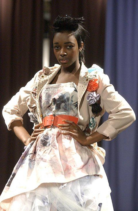 17-year-old Robina Powell was one of the models in the Sydenham School fashion show. BR72741