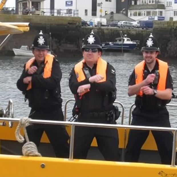 News Shopper: Devon and Cornwall Police officers dancing Gangnam Style