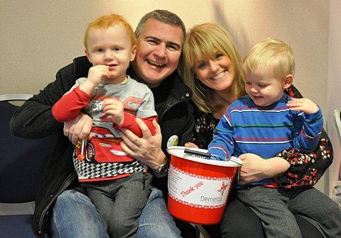 Vic White, Steve White, Sally Lindsay and Louie White at the hospice in Eltham.