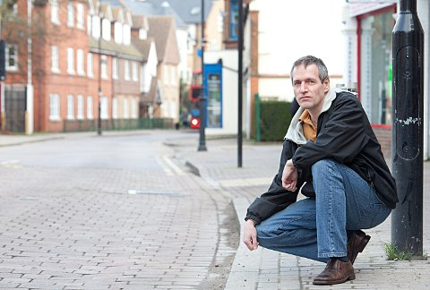 Patrick Neylan on the cobbles of Orpington High Street.