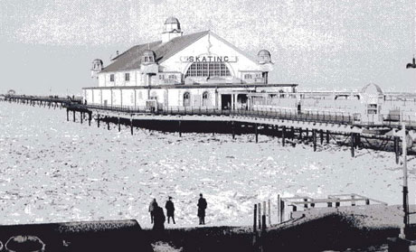 In the winter of 1963, frozen waters at  Herne Bay stretched for 2.5 miles