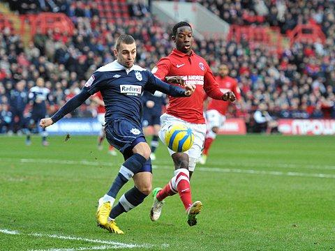 Bradley Wright-Phillips in action against Huddersfield in the cup last week - a rare start for the forward. PICTURE BY KEITH GILLARD.