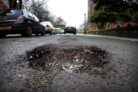 The cost of repairing potholes - like this one - across Bexley has risen.