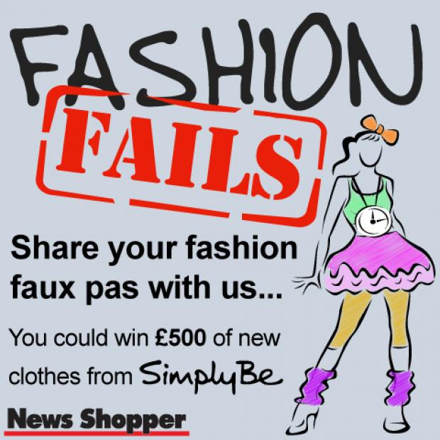 Share your past fashion fails for the chance to win £500 of new clothes