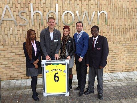 Norwich city football star Michael Turner returns to Eltham Crown Woods College
