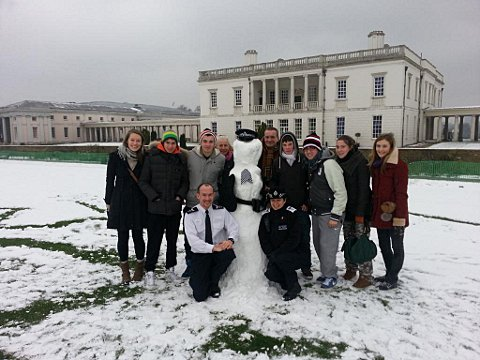 Snow-police-woman is Greenwich police's newest recruit