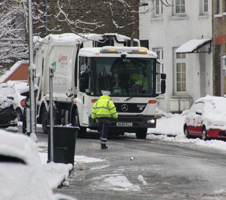Bromley binmen out collecting rubbish rather than striking