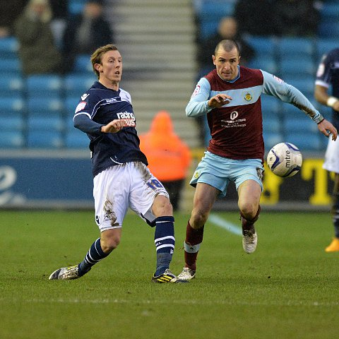 Martyn Woolford (left) scored Millwall's second. PICTURE BY KEITH GILLARD.