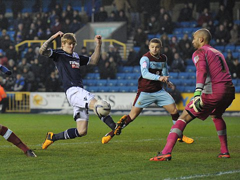Andy Keogh goes close
