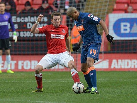 Dale Stephens (above) put Charlton in front with a stunning effort. PICTURE BY KEITH GILLARD.