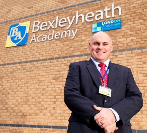 "New Bexleyheath Academy principal Carl Wakefield is has set is sights on an ""outstanding"" Ofsted rating."