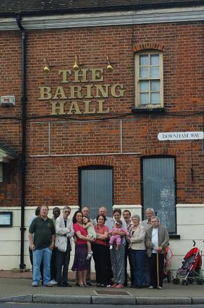 Campaigners at the Baring Hall Hotel