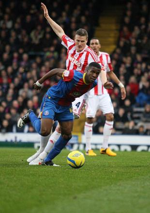 A taste of things to come: Zaha will face the likes of Stoke City next season as a Premier League player    SP72883
