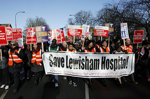 Campaigners beat Jeremy Hunt in the battle against downgrading Lewisham Hoispital's A&E and maternity services